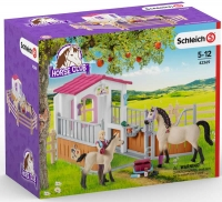 Wholesalers of Schleich Horse Stall With Arab Horses And Groom toys image