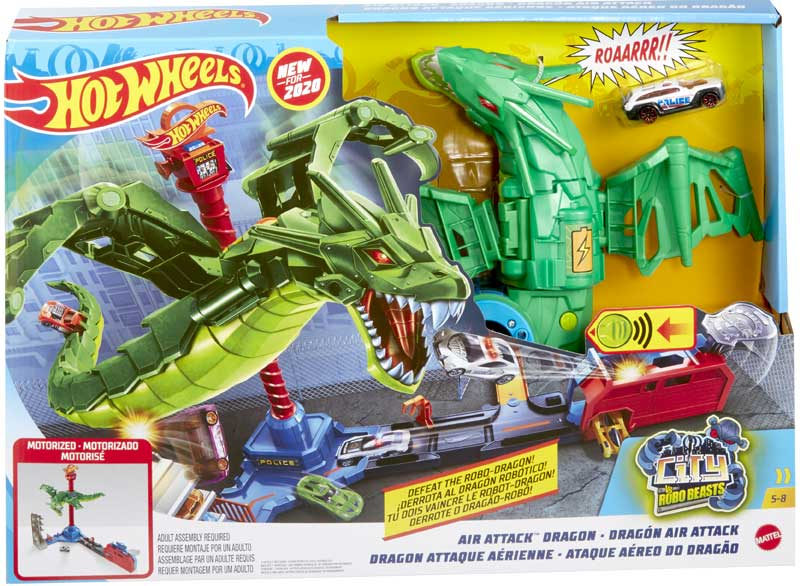 Wholesalers of Hot Wheels City Air Attack Dragon toys