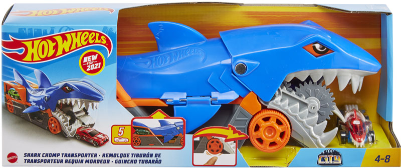 Wholesalers of Hot Wheels City Shark Chomp Transporter toys