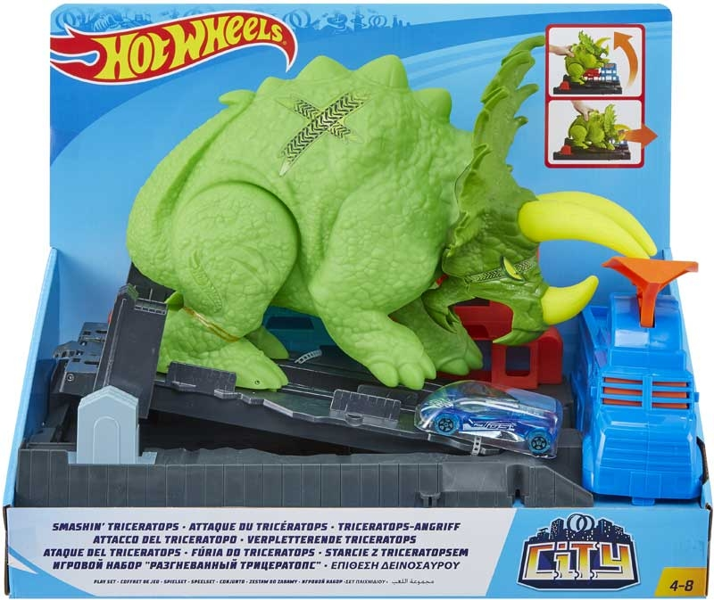 Wholesalers of Hot Wheels City Smashin Triceratops toys