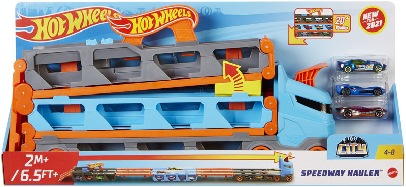 Wholesalers of Hot Wheels City Speedway Hauler toys