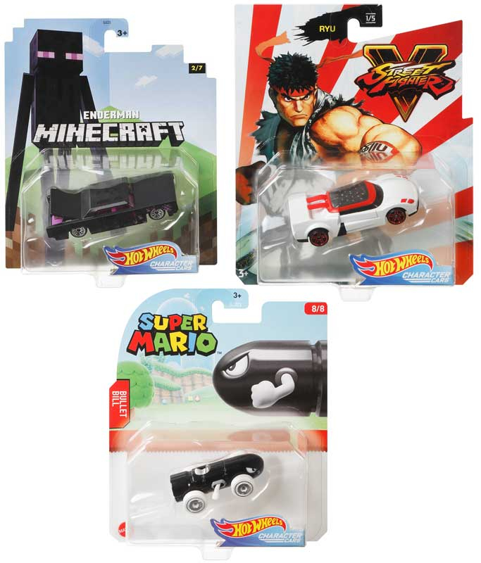 Wholesalers of Hot Wheels Gaming Character Cars Asst toys