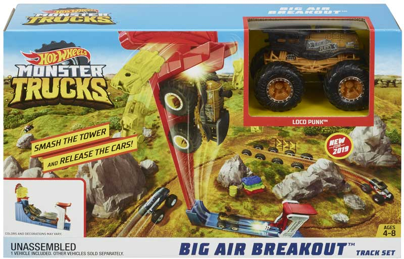Wholesalers of Hot Wheels Monster Truck Big Air Breakout Play Set toys