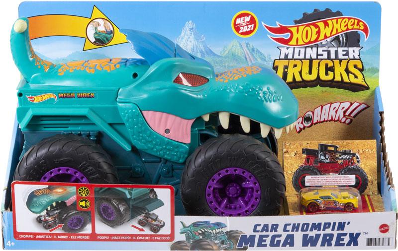 Wholesalers of Hot Wheels Monster Trucks Car Chompin Mega-wrex Vehicle toys