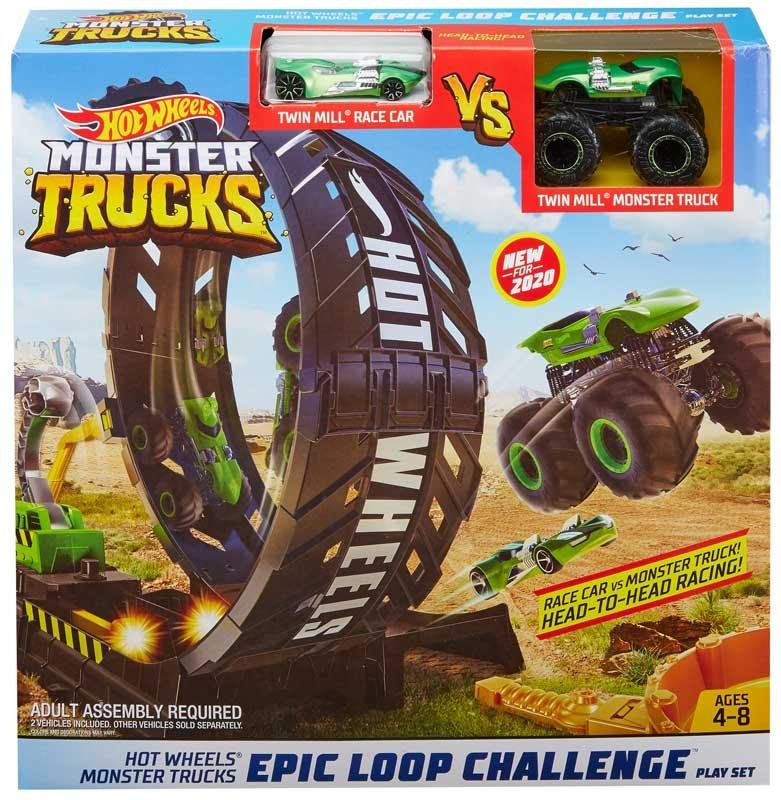 Wholesalers of Hot Wheels Monster Trucks Epic Loop Challenge Play Set toys