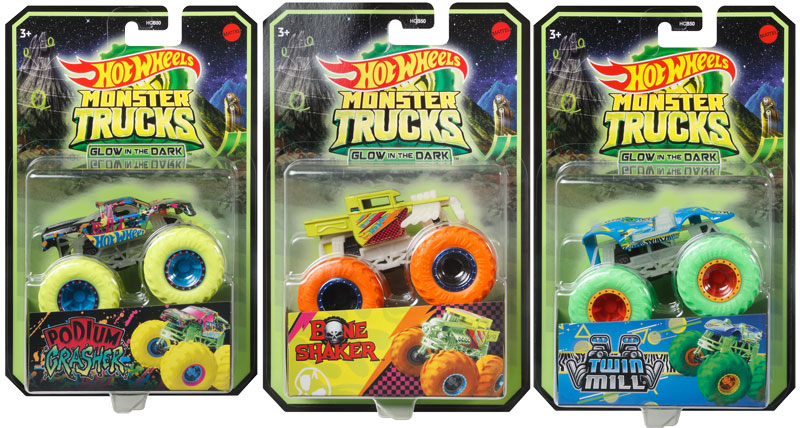 Wholesalers of Hot Wheels Monster Trucks Glow In The Dark Assortment toys