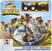 Wholesalers of Hot Wheels Monster Trucks Mecha Shark Face-off Playset toys image