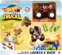 Wholesalers of Hot Wheels Monster Trucks Launch And Bash toys image
