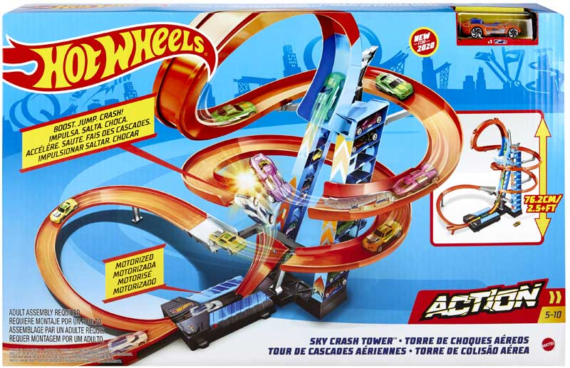 Wholesalers of Hot Wheels Sky Crash Tower Track Set toys