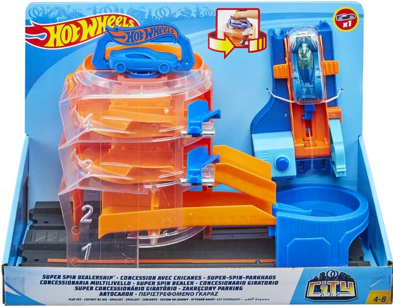Wholesalers of Hot Wheels Super Spin Dealership toys