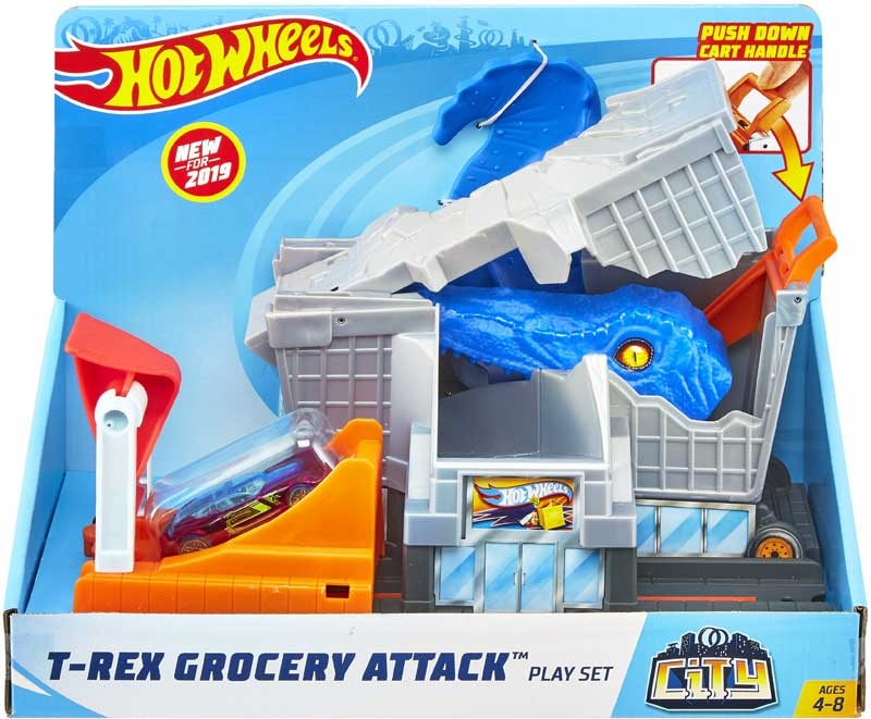 Wholesalers of Hot Wheels T-rex Grocery Attack Playset toys