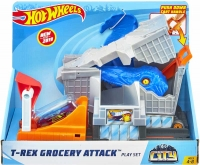Wholesalers of Hot Wheels T-rex Grocery Attack Playset toys Tmb