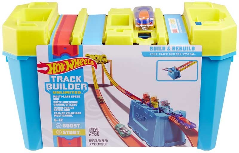 Wholesalers of Hot Wheels Track Builder Unlimited Multi-lane Speed Box toys