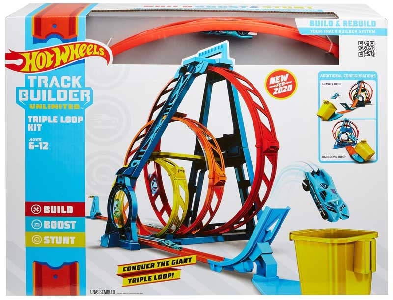 Wholesalers of Hot Wheels Track Builder Unlimited Triple Loop Kit toys