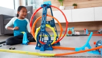 Wholesalers of Hot Wheels Track Builder Unlimited Triple Loop Kit toys image 3