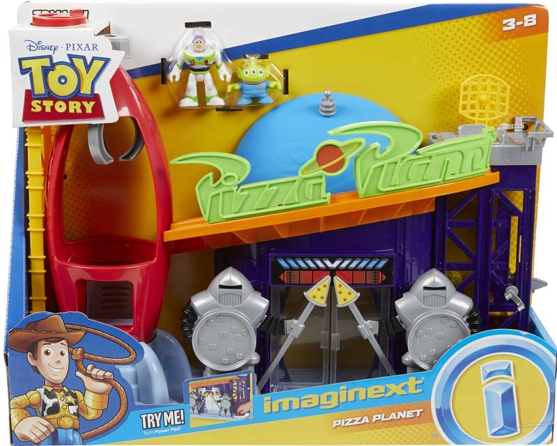 Wholesalers of Imaginext Playset Featuring Toy Story Pizza Planet toys