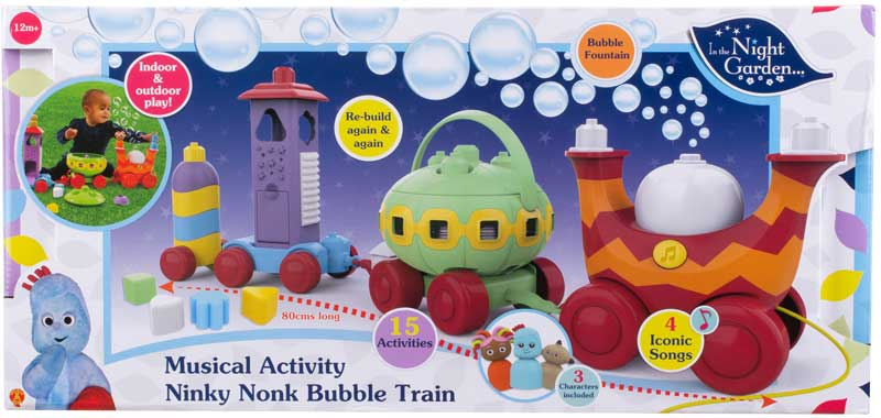 Wholesalers of In The Night Garden Musical Activity Ninky Nonk Bubble Train toys