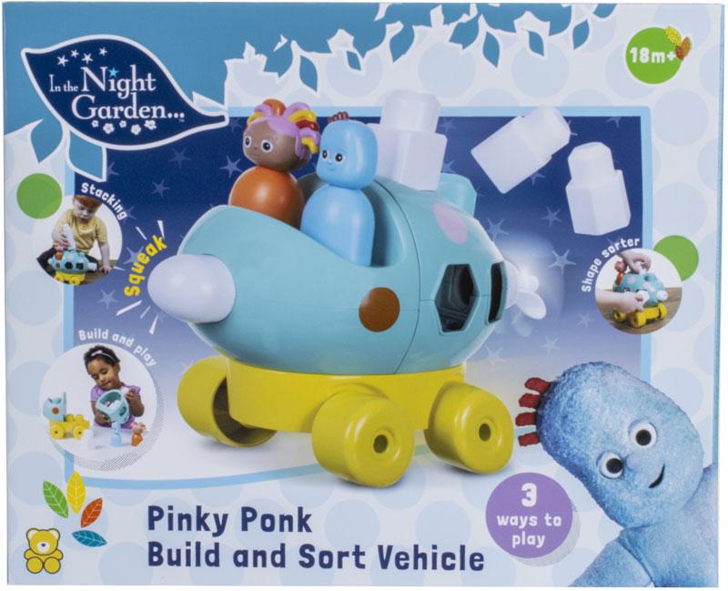 Wholesalers of In The Night Garden Pinky Ponk Build & Sort Vehicle toys