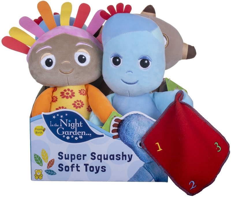 Wholesalers of In The Night Garden Super Squashy Soft Toys Asst toys