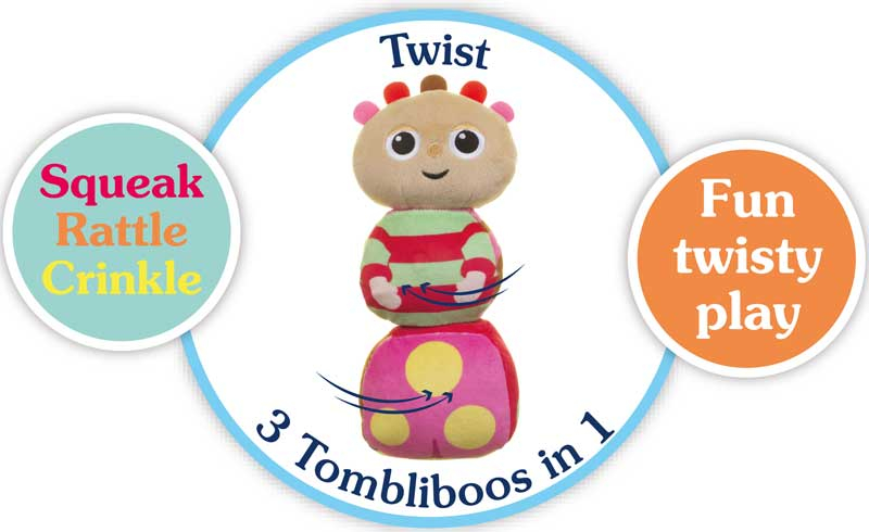 IN THE NIGHT GARDEN 2043 Tombliboo Twister Activity Soft Toy