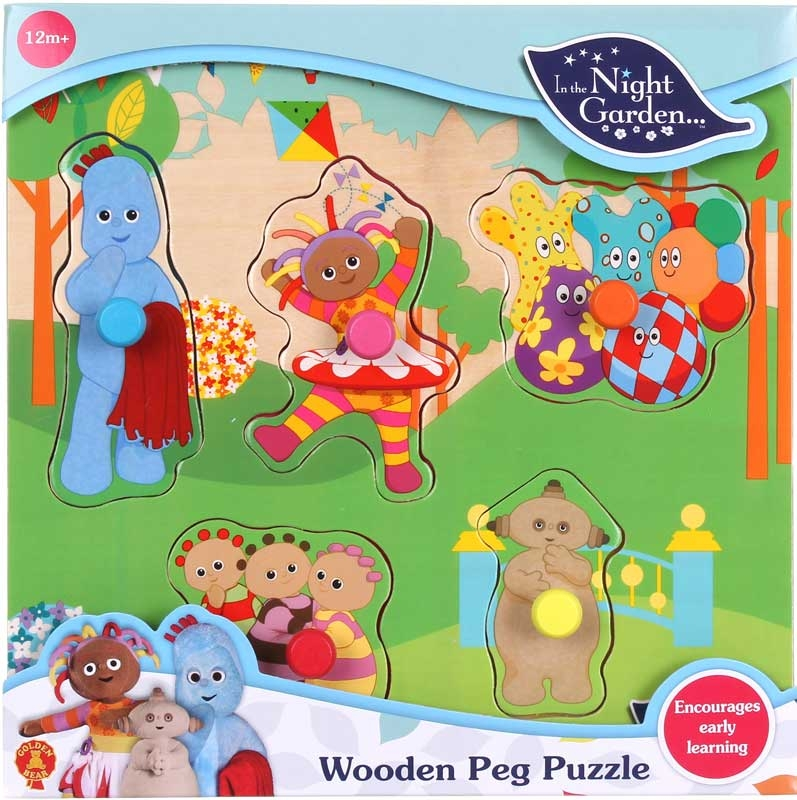 Wholesalers of In The Night Garden Wooden Peg Puzzle toys