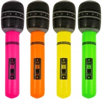 Wholesalers of Inflatable Microphone 66cm 4 Astd Neon Cols toys image