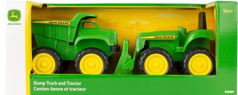 Wholesalers of John Deere Mini Sandbox Tractor And Dump Truck Set toys