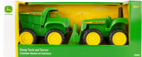 Wholesalers of John Deere Mini Sandbox Tractor And Dump Truck Set toys image