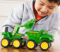 Wholesalers of John Deere Mini Sandbox Tractor And Dump Truck Set toys image 3