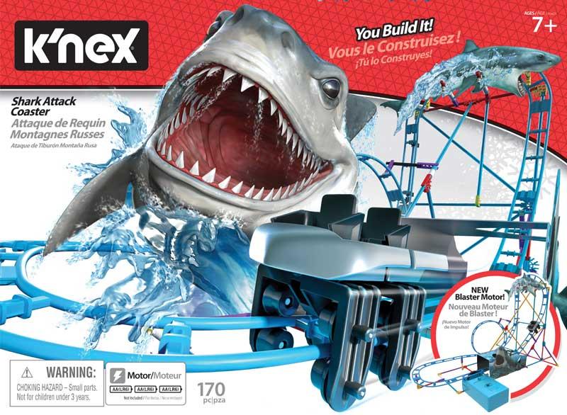 Wholesalers of Knex Tabletop Thrills Shark Attack Coaster toys