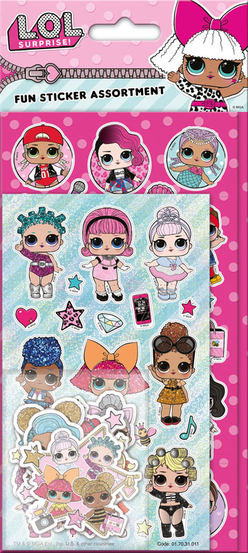 Wholesalers of L.o.l. Surprise! Assortment Pack Stickers toys