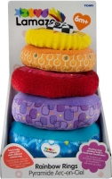 Wholesalers of Lamaze Rainbow Stacking Rings toys image