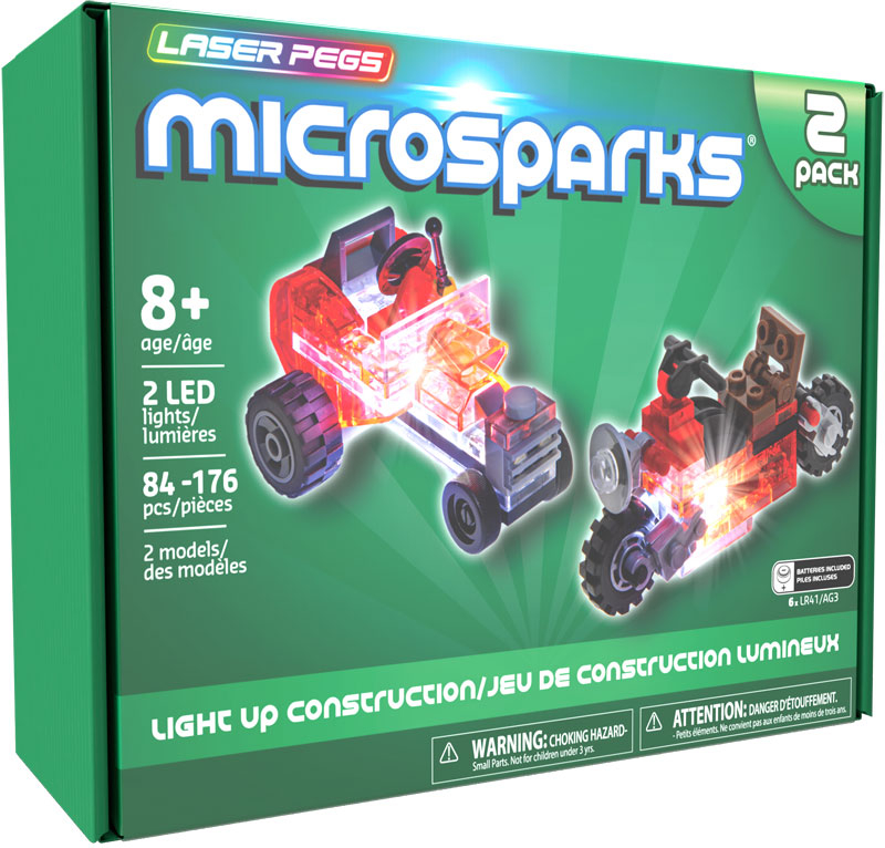 Wholesalers of Laser Pegs Microsparks Mini Rod & Red Motorcycle toys