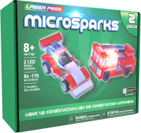Wholesalers of Laser Pegs Microsparks Red Formula Car & Ladder Truck toys Tmb