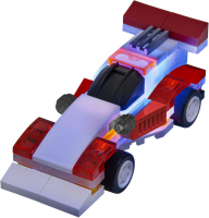 Wholesalers of Laser Pegs Microsparks Red Formula Car & Ladder Truck toys image 3