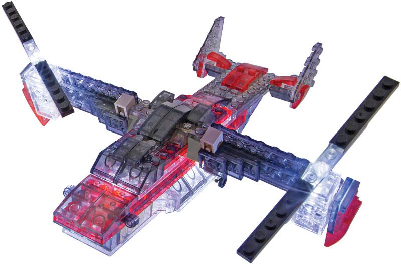 Wholesalers of Laser Pegs Multi Models - 5-in-1 Vtol Sparhawk toys