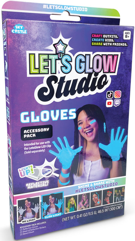 Wholesalers of Lets Glow Studio - Gloves Accessory Pack toys