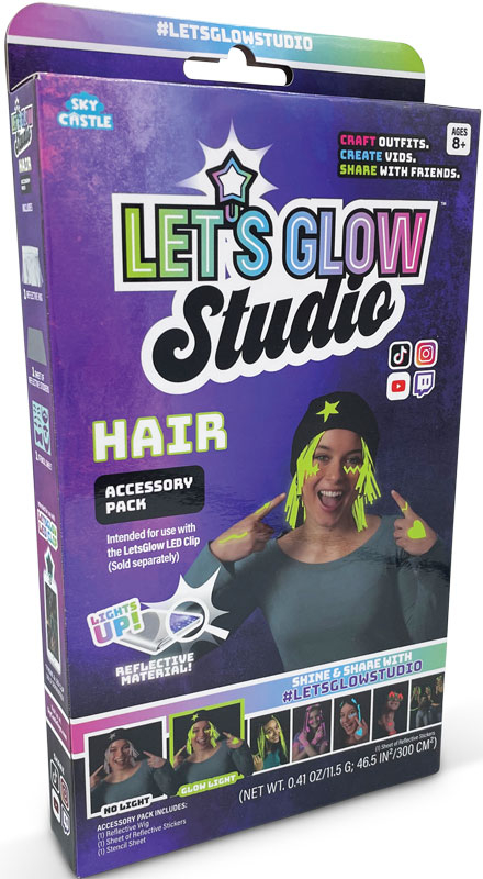 Wholesalers of Lets Glow Studio - Hair Accessories Pack toys