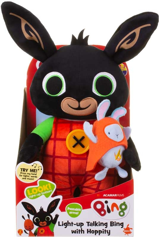 Wholesalers of Light Up Talking Bing With Hoppity Soft Toy toys
