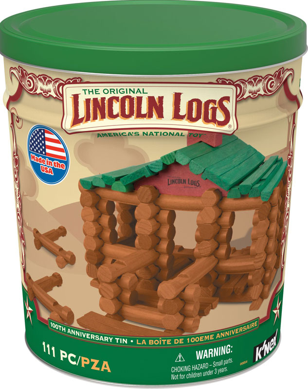 Wholesalers of Lincoln Logs 100th Anniversary Tin toys