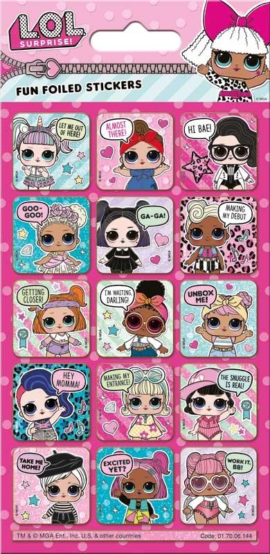 Wholesalers of Lol Surprise Captions Foil Stickers toys