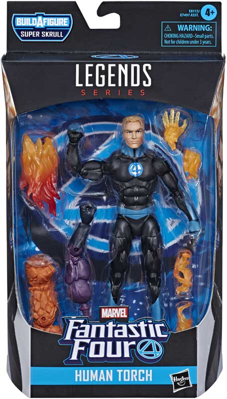 Wholesalers of Marvel F4 Legends Human Torch toys