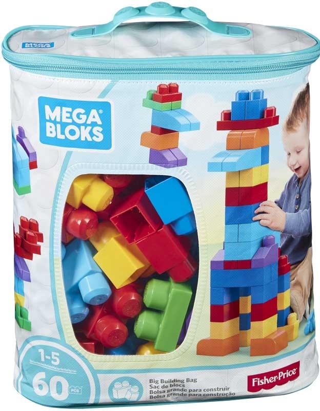 Wholesalers of Mega Bloks Building Bag 60pc Blue toys