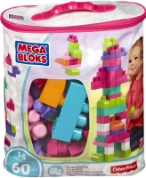 Wholesalers of Mega Bloks  Building Bag 60pc Pink toys image