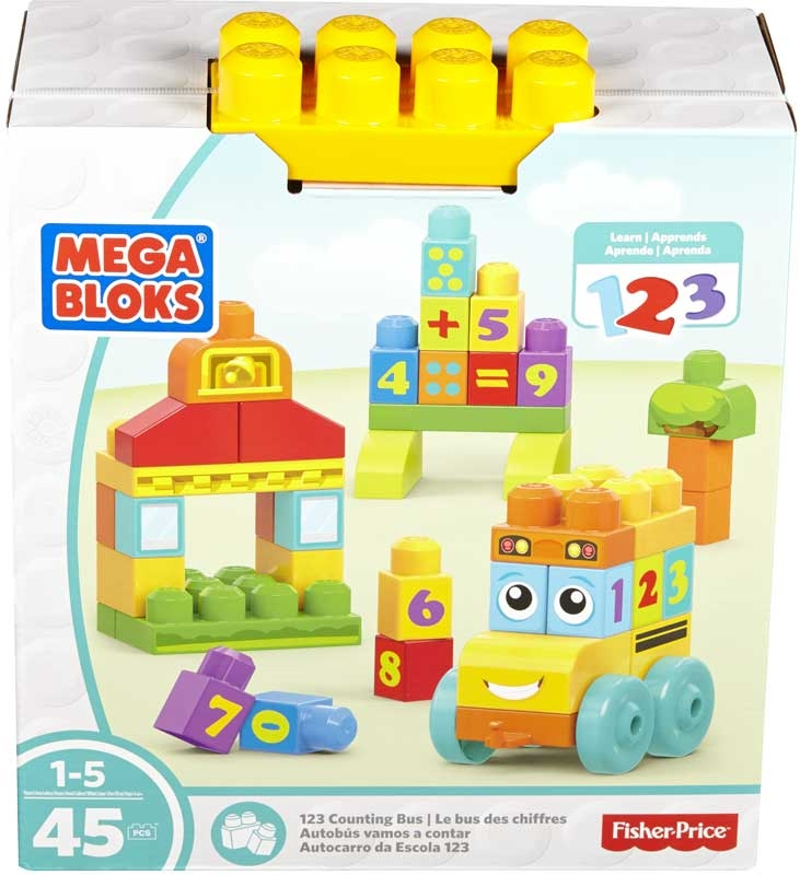 Wholesalers of Mega Bloks 1 2 3 Counting Bus toys