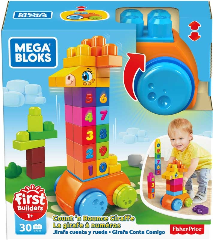 Wholesalers of Mega Bloks Bounce And Count Giraffe toys