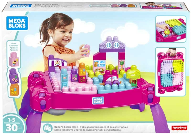 Wholesalers of Mega Bloks Build N Learn Table Pink toys