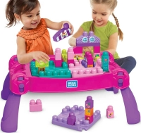 Wholesalers of Mega Bloks Build N Learn Table Pink toys image 3