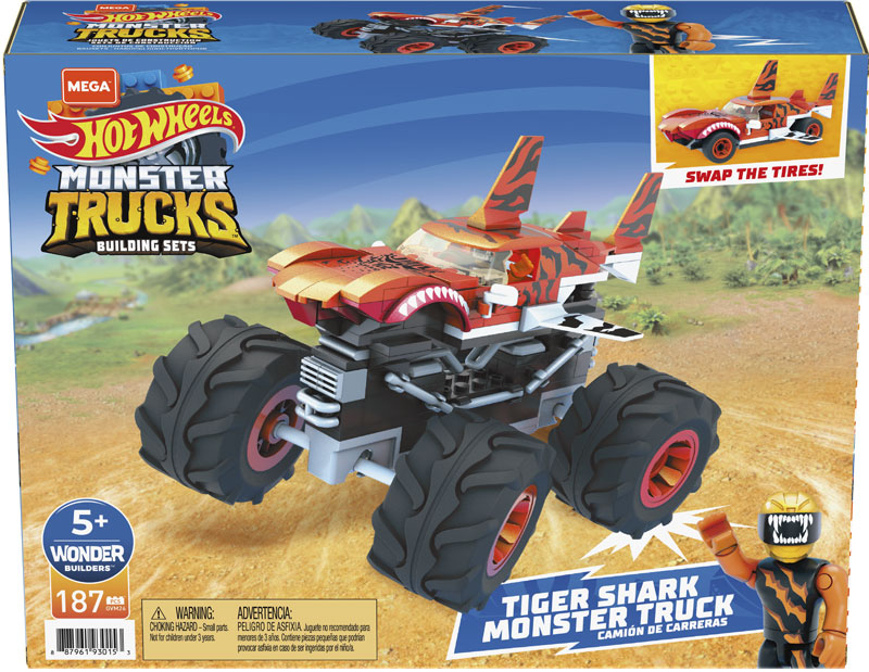 Wholesalers of Mega Bloks Hw Construx Tiger Shark toys