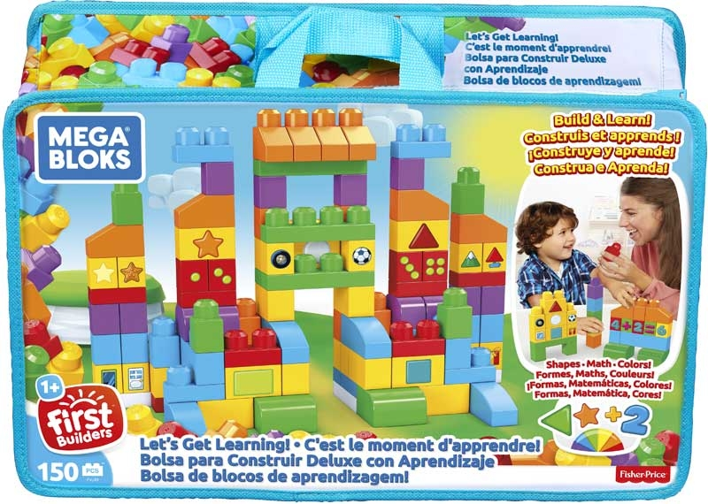 Wholesalers of Mega Bloks Lets Get Learning Bag 150pcs toys